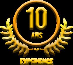 logo 10 ans d'existence - naturopathe Villeneuve sur yonne